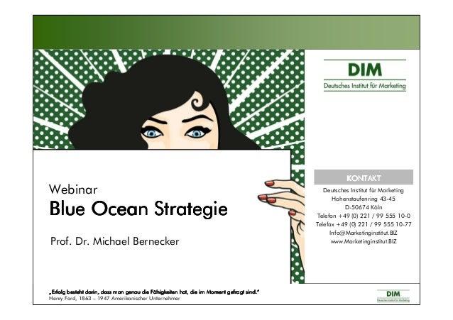 "Webinar Blue Ocean StrategieBlue Ocean StrategieBlue Ocean StrategieBlue Ocean Strategie Prof. Dr. Michael Bernecker """"""""E..."