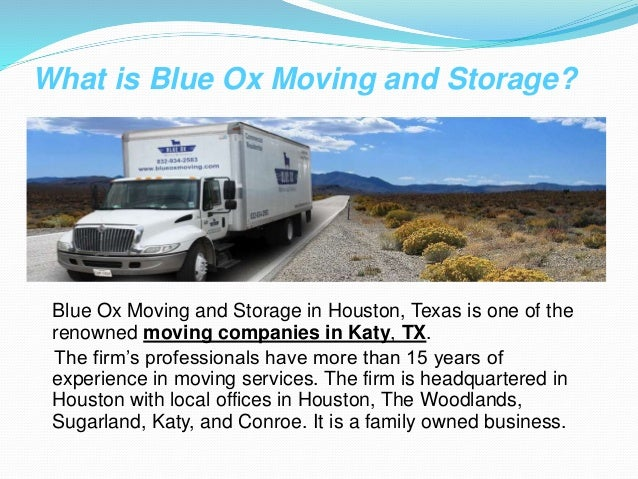 Affordable Movers Houston Blue Ox Moving And Storage