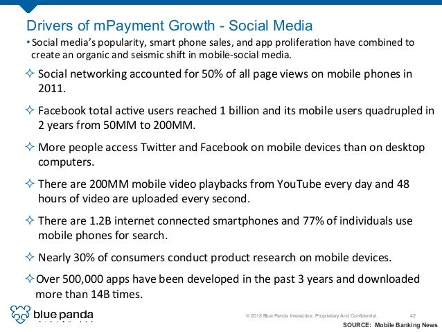 © 2013 Blue Panda Interactive. Proprietary And Confidential.! 42! ²Social  networking  accounted  for  50%  of...