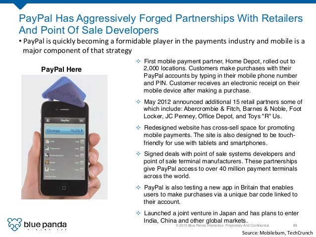 © 2013 Blue Panda Interactive. Proprietary And Confidential.! 89! PayPal Has Aggressively Forged Partnerships With Retailer...