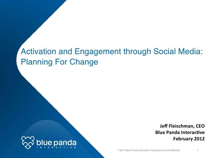 Activation and Engagement through Social Media:  Planning For Change!                                                   ...
