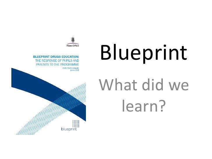 Blueprint<br />What did we learn?<br />