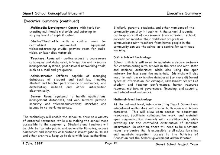 A conceptual blueprint 15 smart school conceptual blueprint malvernweather Gallery