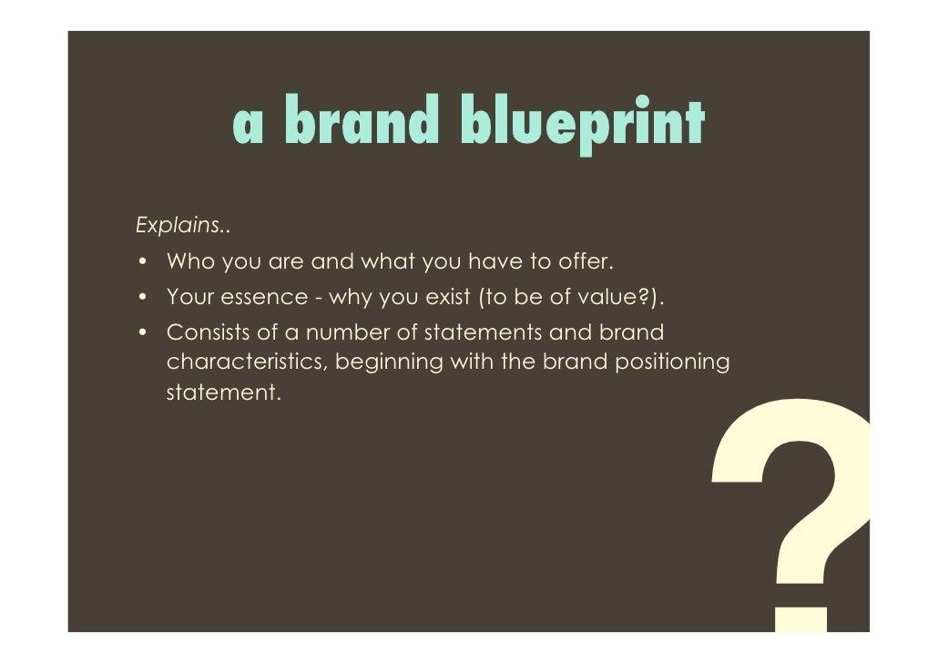 Brand building 101 3 a brand blueprint malvernweather Images