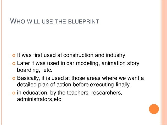 Blueprint in education meaning malvernweather Choice Image
