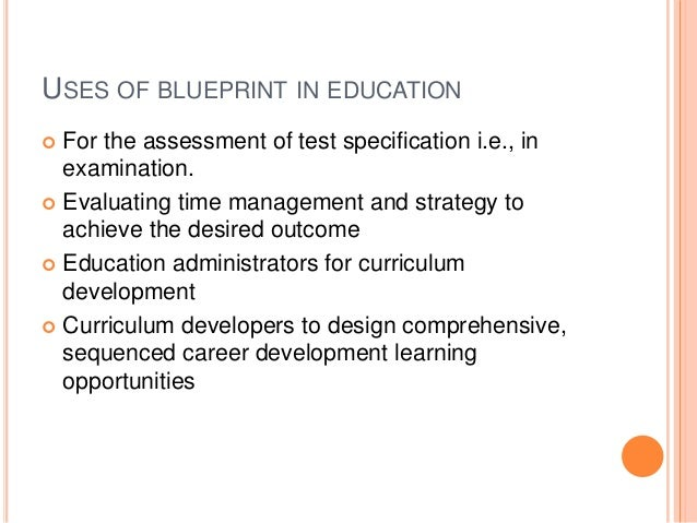 Blueprint in education 23 uses of blueprint in education for malvernweather Choice Image
