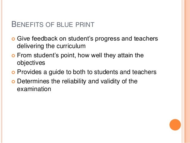 Blueprint in education every time the question will change not the blue print malvernweather Choice Image