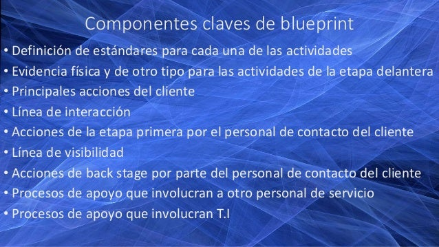 Service blueprint servicios 3 componentes claves de blueprint malvernweather Image collections