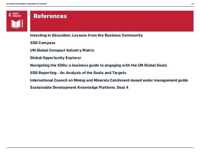 Blueprint for business leadership on the sdgs blueprint for business leadership malvernweather Choice Image