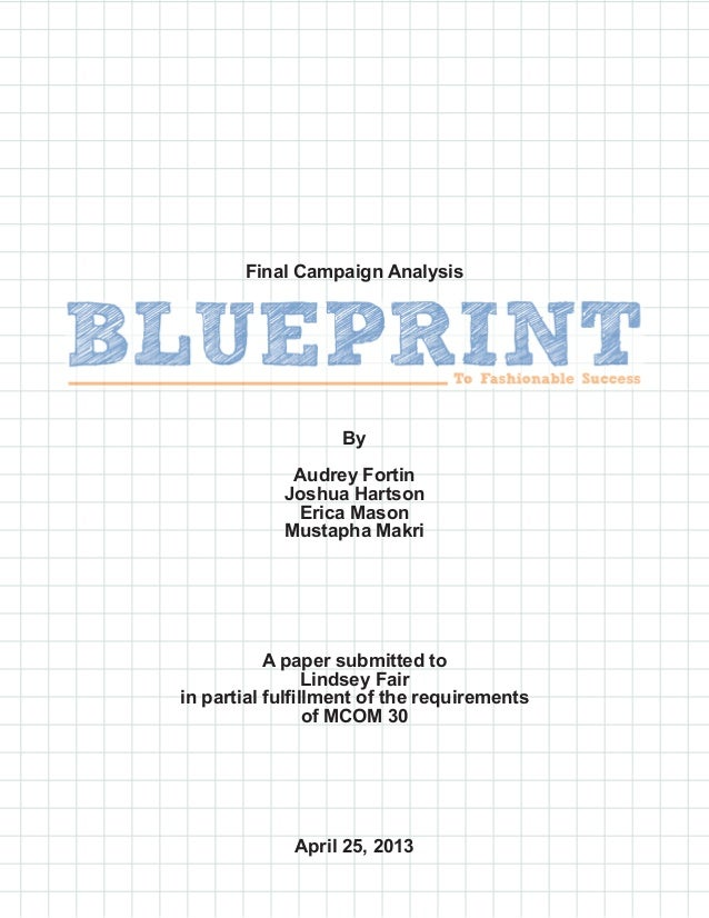 Blueprint direct marketing campaign final campaign analysisbyaudrey fortinjoshua hartsonerica masonmustapha makria paper submitted tolindsey fairin partial fu malvernweather Image collections