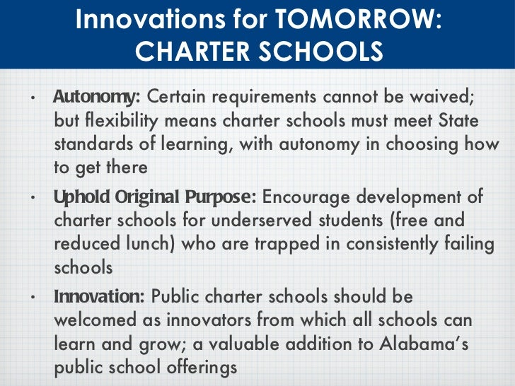 Reform alabama blueprint for education reform 29 innovations for tomorrow charter schools malvernweather Gallery