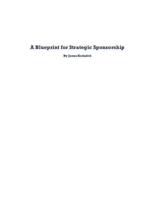 A Blueprint For Strategic Sponsorship By Janus Kodadek ...