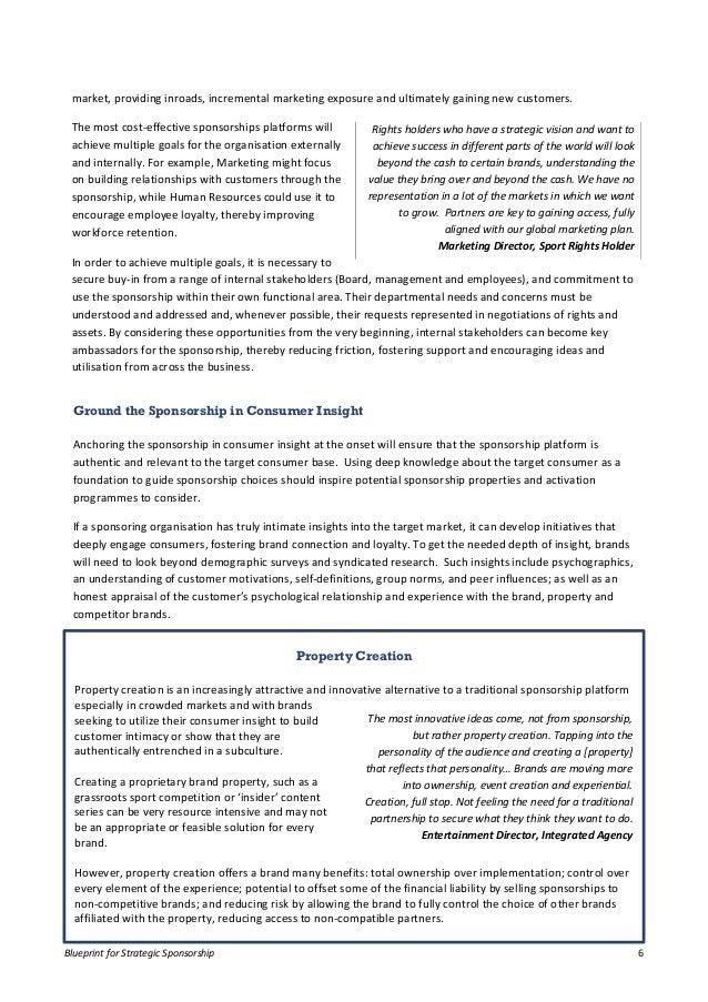 Director, Strategy Agency; 6. Blueprint For Strategic Sponsorship ...