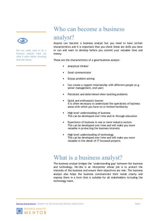 Blueprint for success startingabusinessanalystcareer business analyst mentor blueprint malvernweather Images