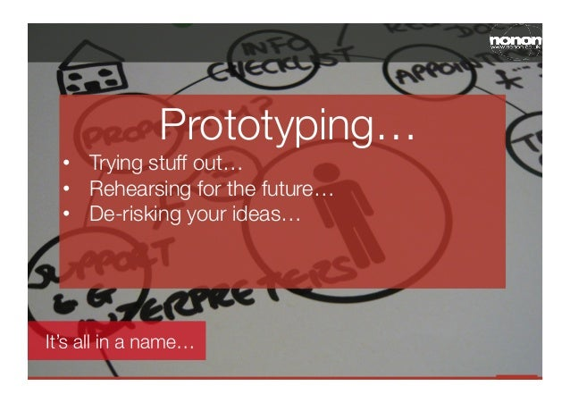 Prototyping…• Trying stuff out…• Rehearsing for the future…• De-risking your ideas…