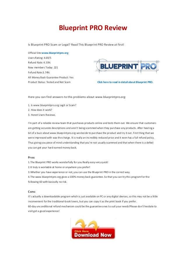Blueprint pro affiliate program blueprint pro reviewis blueprint pro scam or legal read this blueprint pro review at first malvernweather Images