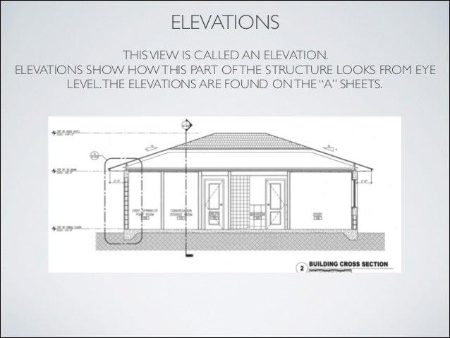 Blueprint reading introduction elevations malvernweather Image collections