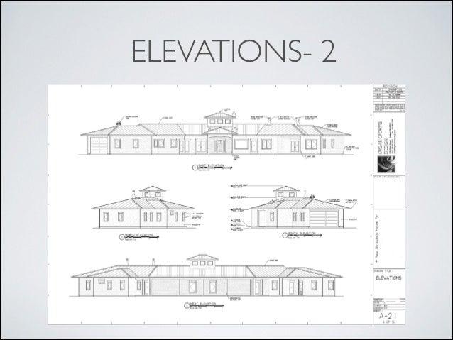 Blueprint reading introduction elevations 2 20 malvernweather Images