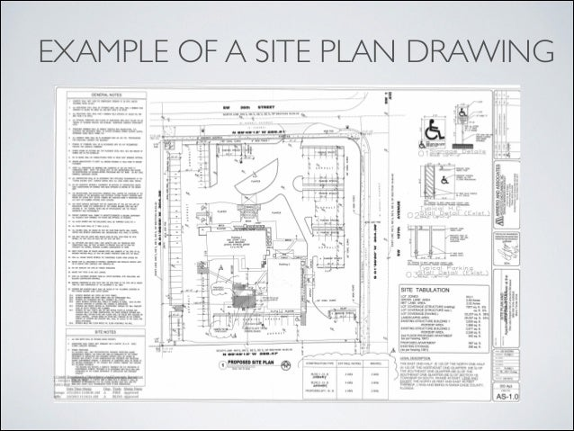 Blueprint reading introduction for Site plan drawing online