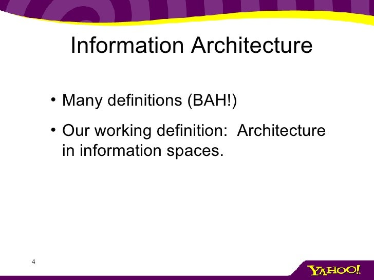 Information architecture 101 for Architecture 101