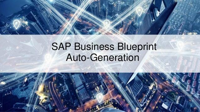 Sap business blueprint auto generation 1 sap business blueprint auto generation malvernweather Gallery