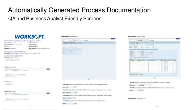 Sap business blueprint auto generation 11 automated business process discovery with worksoft analyze 12 malvernweather Images