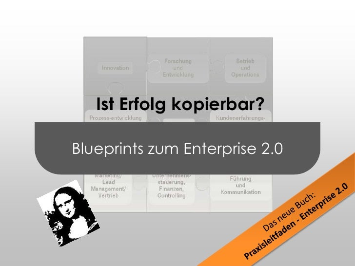 Blueprints zum Enterprise 2.0<br /> Ist Erfolg kopierbar?<br />Forschung und Entwicklung<br />Betrieb und Operations<br />...