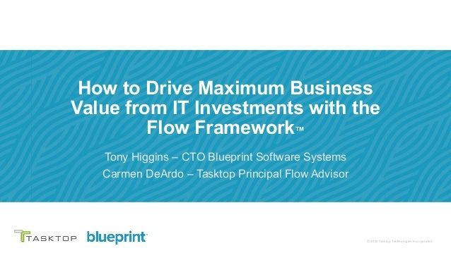 © 2019 Tasktop© 2020 Tasktop Technologies Incorporated. How to Drive Maximum Business Value from IT Investments with the F...