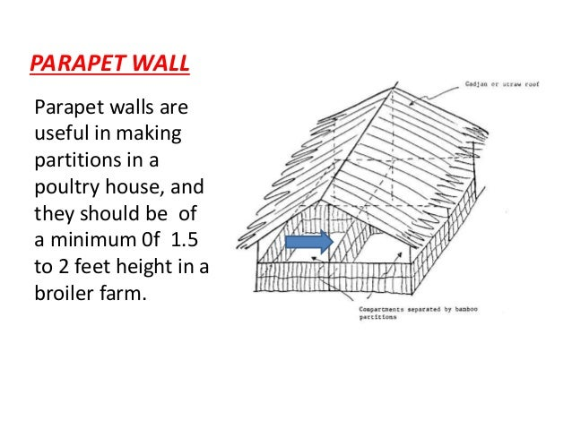 Blue print and specifications for a broiler poultry shed