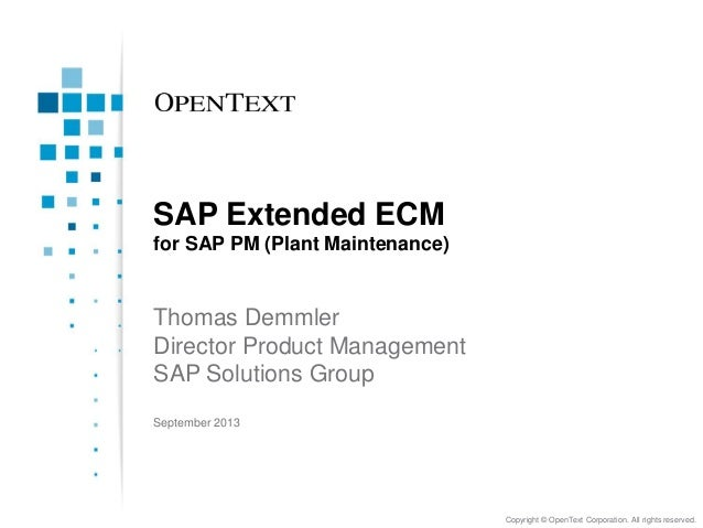 SAP Extended ECMv for SAP PM (Plant Maintenance)