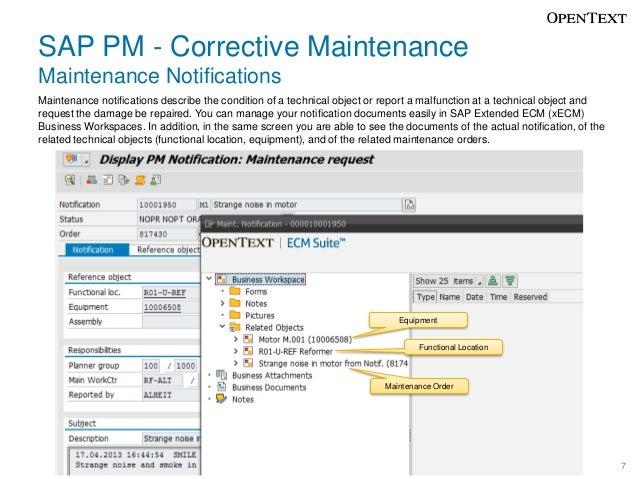Sap extended ecm for sap pm plant maintenance sap pm malvernweather Image collections