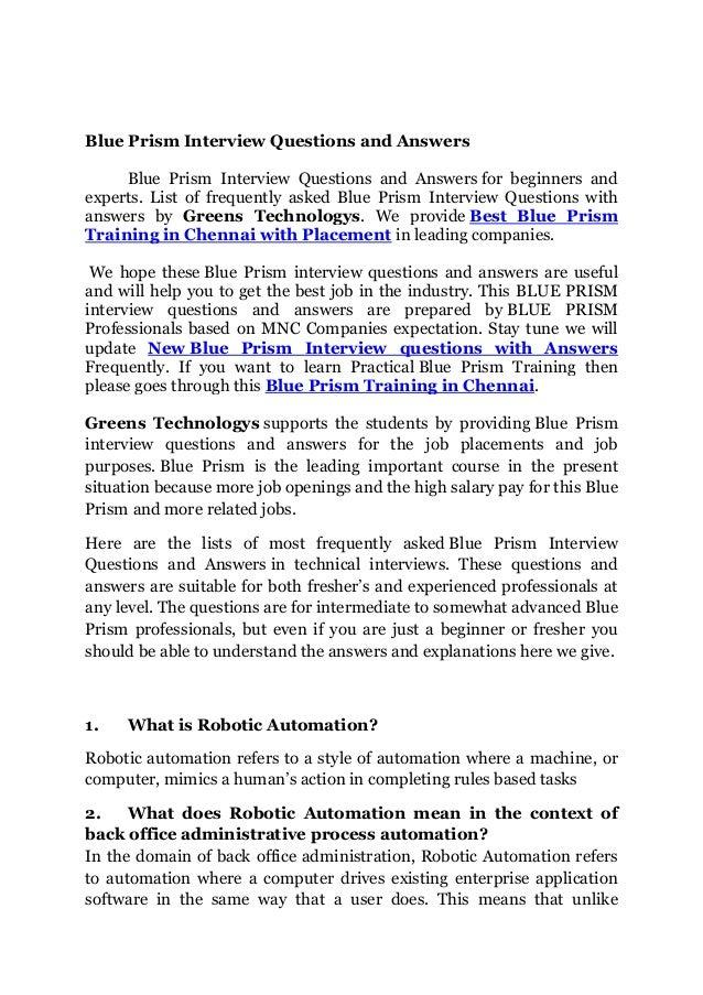 d449dcf345896 Blue prism important interview questions