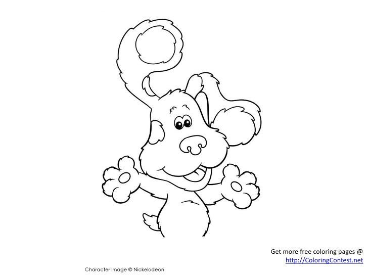 Free Blues Clue Coloring Pages