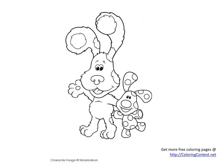 Blue's Clues printable coloring pages online for kids | 546x728