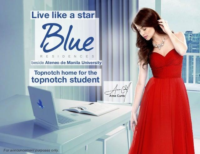 Live like a star                    R   E   S   I   D   E   N   C   E   S               beside Ateneo de Manila University...