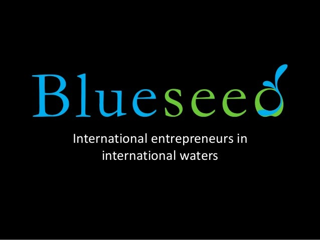 International entrepreneurs in international waters