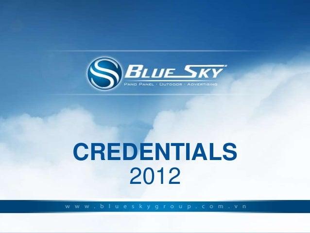 CREDENTIALS   2012