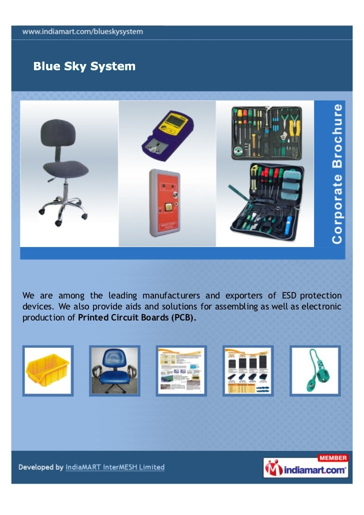 We are among the leading manufacturers and exporters of ESD protectiondevices. We also provide aids and solutions for asse...