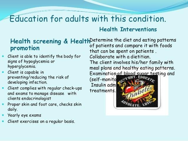 Nursing management for diabetes mellitus.