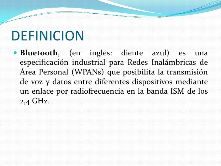 TECNOLOGIA  BLUETOOTH  Slide 2