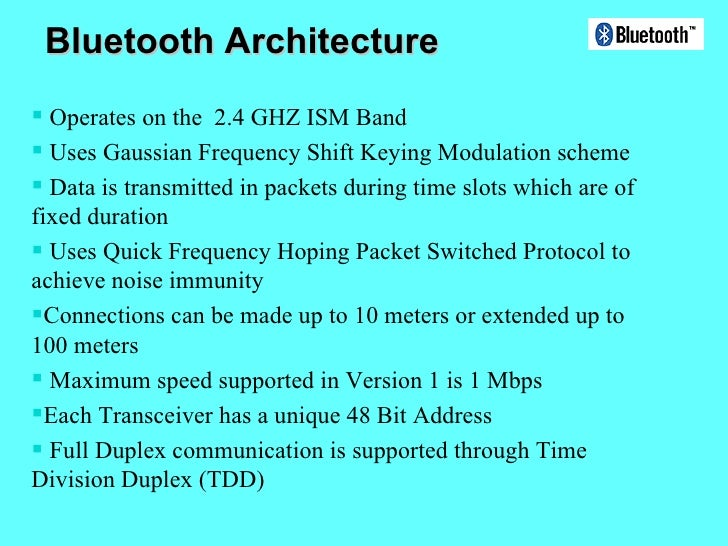 bluetooth On architecture of homerf