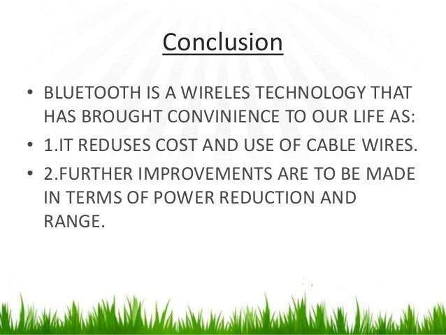 Bluetooth conclusion essay