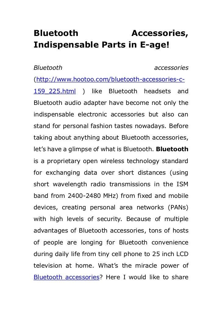 Bluetooth Accessories, Indispensable Parts in E-age!<br />Bluetooth accessories (http://www.hootoo.com/bluetooth-accessori...