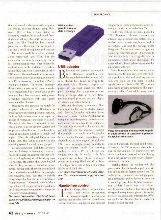 Bluetooth applications