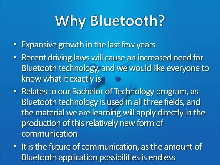 blue tooth technology and how it applies to wireless technology essay Wi-fi stands for wireless fidelity® and is used to define the wireless technology  • 80211 - applies to wireless lans and  wi-fi, bluetooth, hiperlan,.