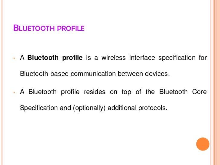 Bluetooth profile Slide 2