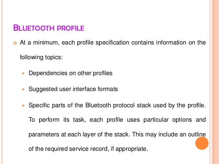 Bluetooth profile Slide 3