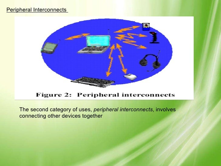 Peripheral Interconnects  The second category of uses,  peripheral interconnects , involves connecting other devices toget...
