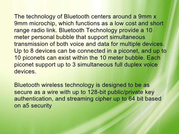 "bluetooth technology essay ""the radiation really comes from the 3g connection on a cellphone,  (the apple  watch uses bluetooth and wi-fi to receive data, and."