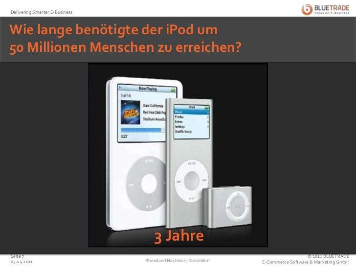 Jahre<br />Wie lange benötigte der iPod um50 Millionen Menschen zu erreichen?<br />3 Jahre<br />25.02.2011<br />Rheinland...